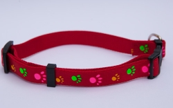 Pawprints Satin Finish Collar