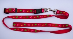 Pawprints Satin Finish Lead and Collar Set