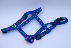 Pawprints Satin Finish Harness
