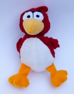 Plush Dog Toy - Red and Yellow Bird